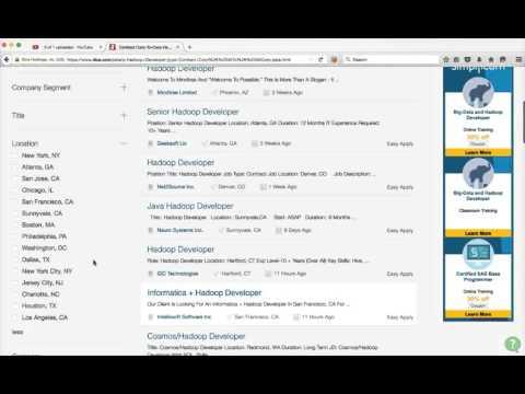 Job Marketing - Advanced Job Search using Job Portals (Dice)