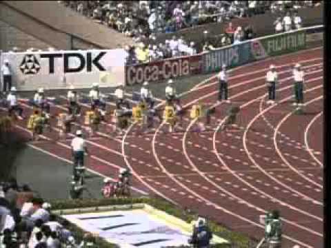 Carl Lewis Record Mundial 100m Campeonato Mundial 1991 Tokio, Final (HQ)
