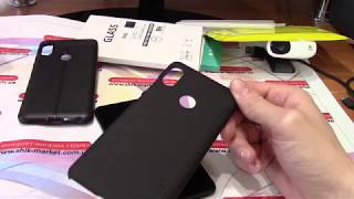 Xiaomi Redmi Note 5 (Pro) 6/64 Snapdragon 636 - виды защитных стекол и 2 бампера
