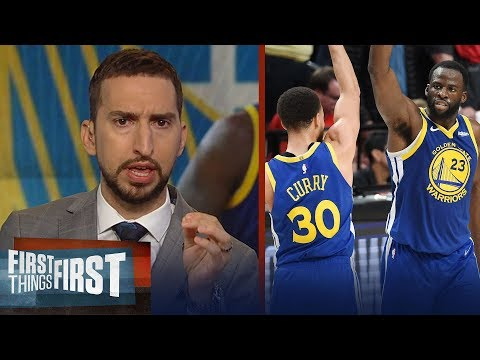 Warriors sweep Blazers, head to 5th straight Finals - Nick & Cris react | NBA | FIRST THINGS FIRST