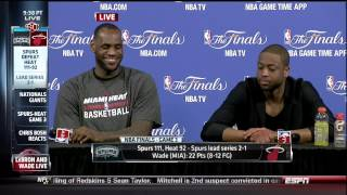 Bobby Ramos Question For Dwyane Wade & LeBron