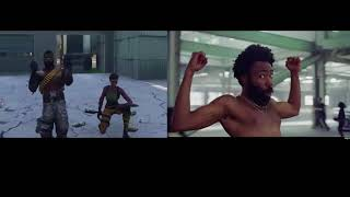 This Is America Fortnite / Childish Gambino side-by-side [parody]
