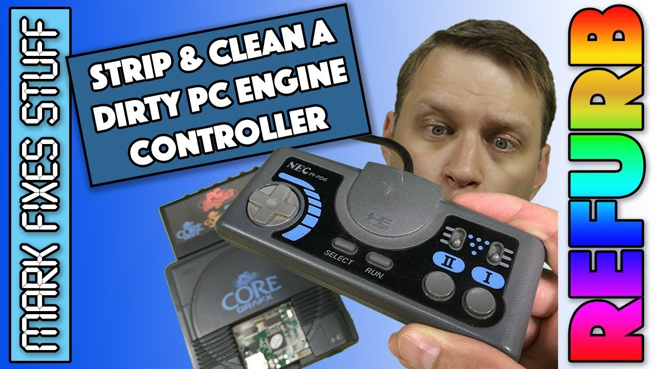 PC Engine Controller - Tear down and Clean - PI-PD6 Core Grafx Gamepad