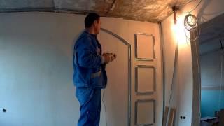 видео стена из гипсокартона с нишами