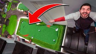 TRANSFORMING OUR HOUSE INTO A GOLF COURSE ft. CouRage, BrookeAB, Nadeshot, Valkyrae
