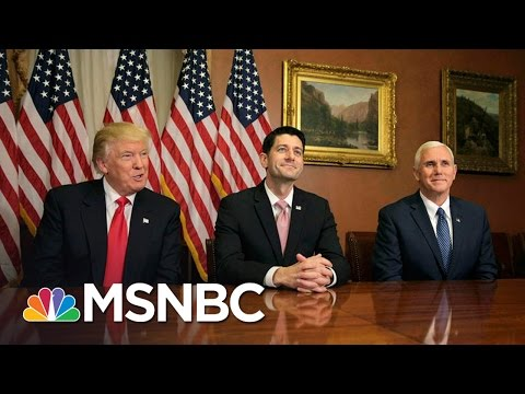 President Obama's And Paul Ryan's Tones About Donald Trump Differ | MSNBC