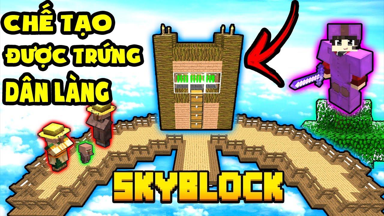 TÝ TIỀN TỈ - LẠI NGHÈO KHỔ SAU KHI CHẾ TẠO ĐƯỢC TRỨNG DÂN LÀNG - Minecraft SkyBlock Beyond #7