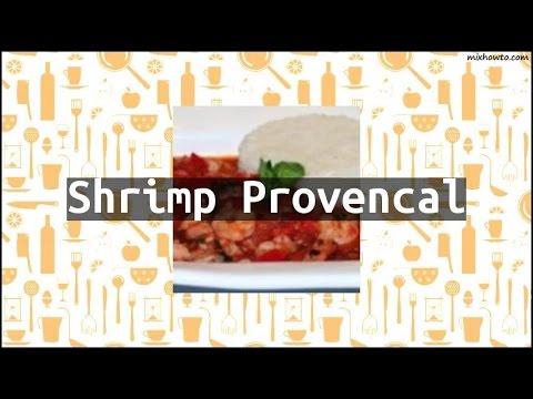Recipe Shrimp Provencal