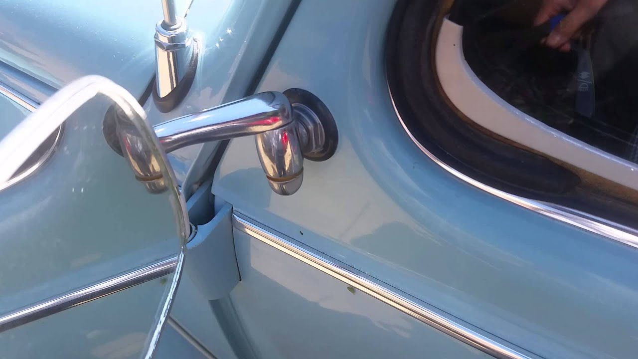 Vw Beetle Mirror Adjustment With A Wrench That Fits Youtube
