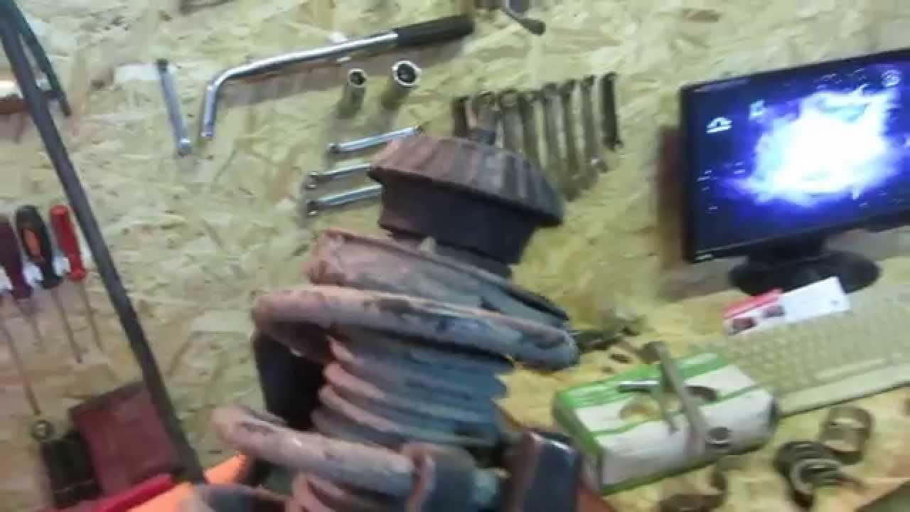 замена передних амортизаторов на chevrolet aveo