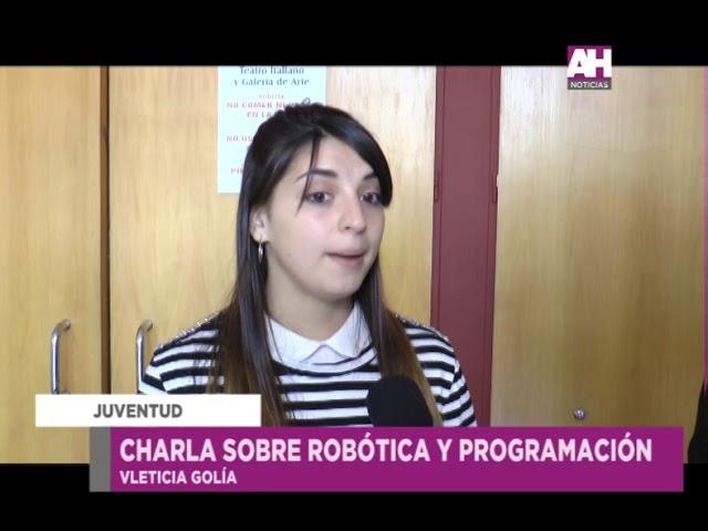 LETICIA GOLIA   JAVIER BASILE   CHARLA SOBRE ROBOTICA Y PROGRAMACION