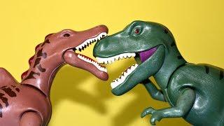 T Rex Spinosaurus Dinosaur Triceratops Vulcano Eruption Lava Toy Playmobil Dinosaurs