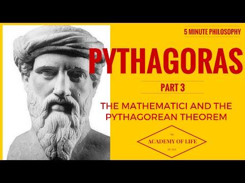 Great Philosophers-Pythagoras: 5 Minute Philosophy No.6: Pythagoras Part 3: The Mathematici.