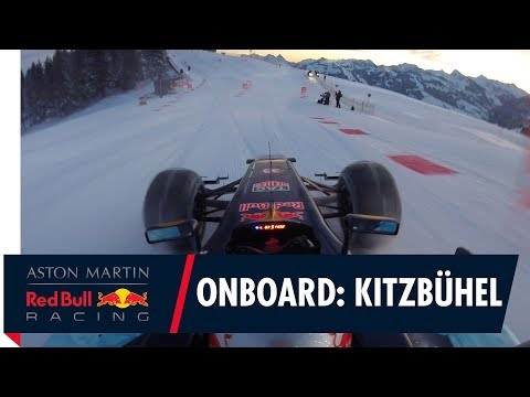 On Board with Max Verstappen in the snow at Kitzbühel