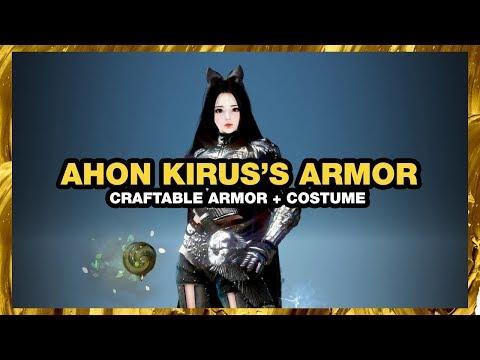 BLACK DESERT ONLINE Ahon Kirus's Armor CRAFTABLE COSTUME