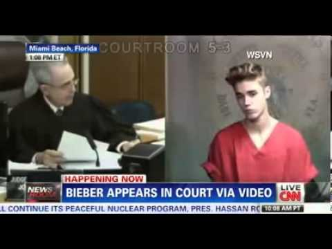 Justin Bieber FULL COURT VIDEO - JB wearing court outfit