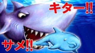 サメついにキター!! サメになっていろんなものを食べまくる!? 弱肉強食ゲーム…