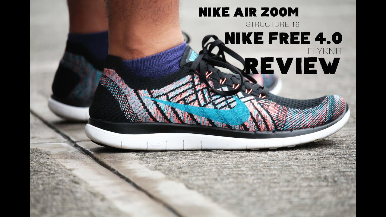 mens nike free 4.0 flyknit running shoes review