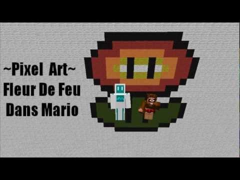Pixel Art Fleur De Feu Mario Youtube
