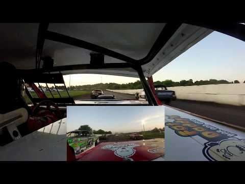 Jeff Crouse Racing.  Fiesta City Speedway.  Street Stock.  6/22/18.  2 GOPRO's