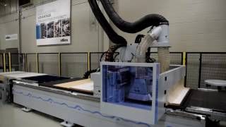 Weeke Vantech PRO+ CON2 CNC Router - Medical Cabinet Parts Nest