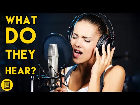 WHY SINGERS WEAR HEADPHONES WHILE RECORDING: The Headphones Utility In Recording Studios