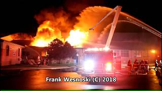 3 alarm school fire in PA 7/18/2018