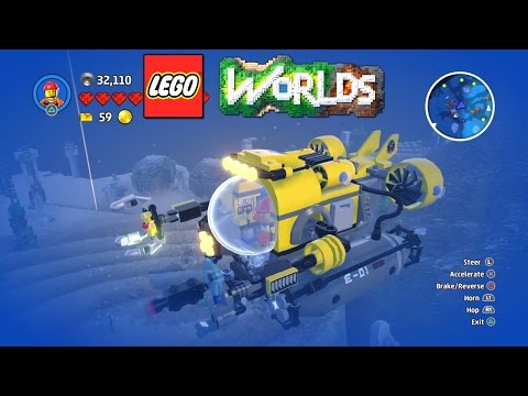 LEGO Worlds - Underwater World And Volcano World Gameplay