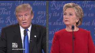 Clinton and Trump on race relations and policing
