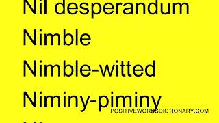 Positive words That Start with N   Positive words starting with N