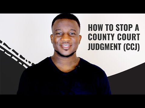 How To Stop A County Court Judgment (CCJ)