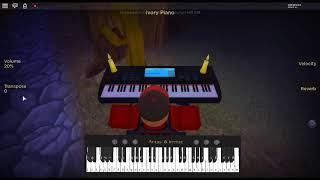 A Million Dreams - The Greatest Showman by: Benj Pasek & Justin Paul on a ROBLOX piano.
