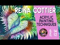 Reina Cottier demonstrates Acrylic painting techniques  | Colour In Your Life