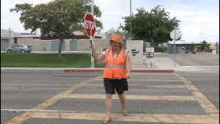 Palmdale Crossing Guard Talks Back to School and Safety