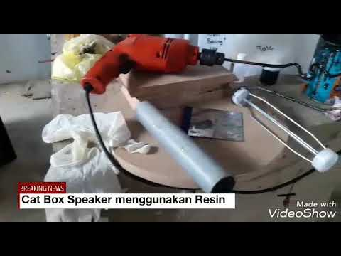 Cat Box Speaker Dengan Resin, Talk Resin dan Pewarna Resin