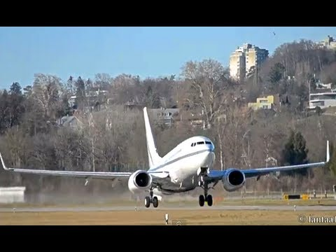 Private Boeing 737-79T Full power takeoff in Berne! HD