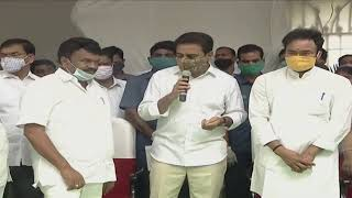 Minister Sri KTR Participating in Laying Foundation for Construction of a Four Lane Flyover