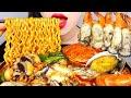 ASMR SPICY SEAFOOD NOODLES 굴 듬뿍 해물라면 먹방(레시피 포함) OYSTER, CRAB, SQUID, MUSHROOM EATING&COOKING SOUNDS