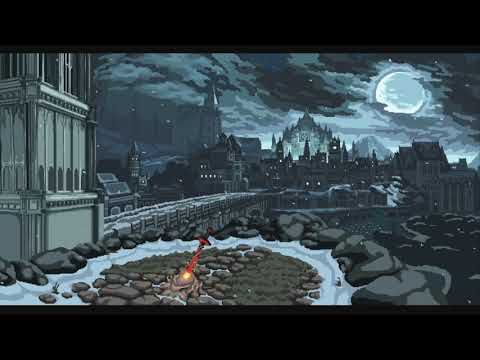 Fire and wind ambiance (1 hour) – Snowy night