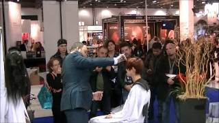 Matsuzaki scissors demonstration at Salon International London 2012.