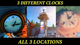 """VISIT DIFFERENT CLOCKS"" Updated BUG Fixed ALL 3 Locations Fortnite Week 8 Challenges GUIDE!"