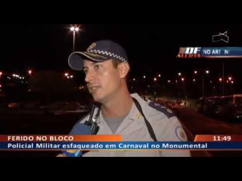 DF ALERTA - Policial Militar esfaqueado em Carnaval no Monumental