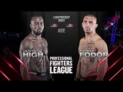 #PFLDaytona: Jason High vs. Caros Fodor Lightweight Full Fight