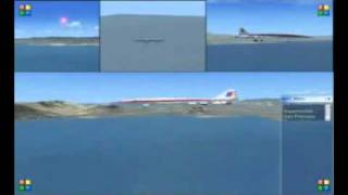 BOEING 2707 200 SST UNITED AIRLINE   LANDING IN LOS ANGELES