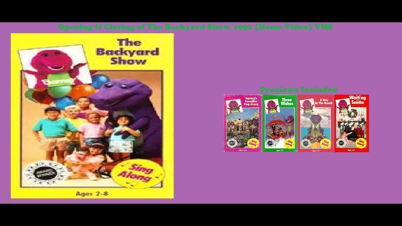 Barney: The Backyard Show 1992 (Home Video) VHS Opening