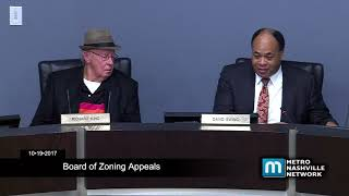 10/19/17 Board of Zoning Appeals Meeting