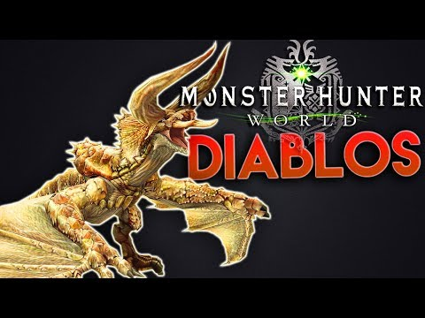 Monster Hunter World  Hunting DIABLOS In A Squad Hunter Bow Gameplay