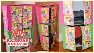 Easy Cardboard Closet / Organizer with door DIY