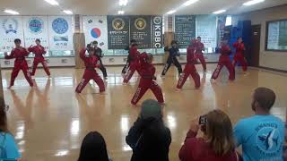 Korea tie qwon do black belt club demonstration