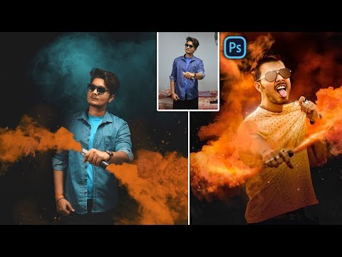 Vijay Mahar Style Color Smoke Bomb Photo Editing in